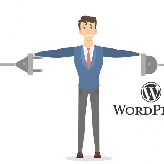 Ilustracja  wyłączanie awaryjne wtyczki WordPress